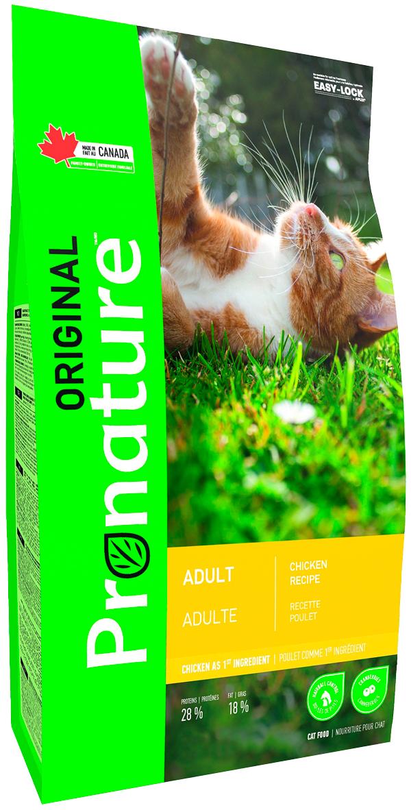 Pronature Original Cat Adult для взрослых кошек с курицей (2,27 кг)