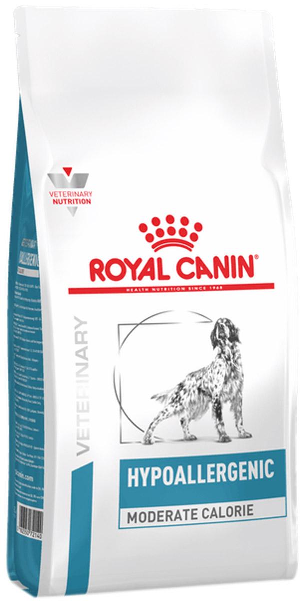 Royal Canin Hypoallergenic Moderate Calorie для взрослых собак при пищевой аллергии с умеренным содержанием калорий (7 кг)