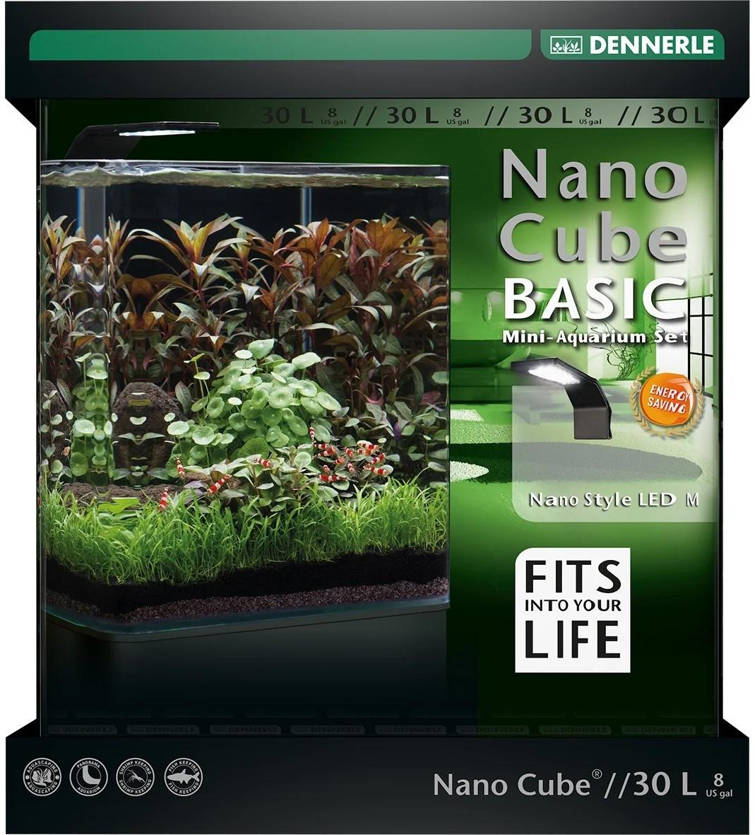 Аквариум Dennerle Nanocube Basis Style Led M 30 литров (1 шт)