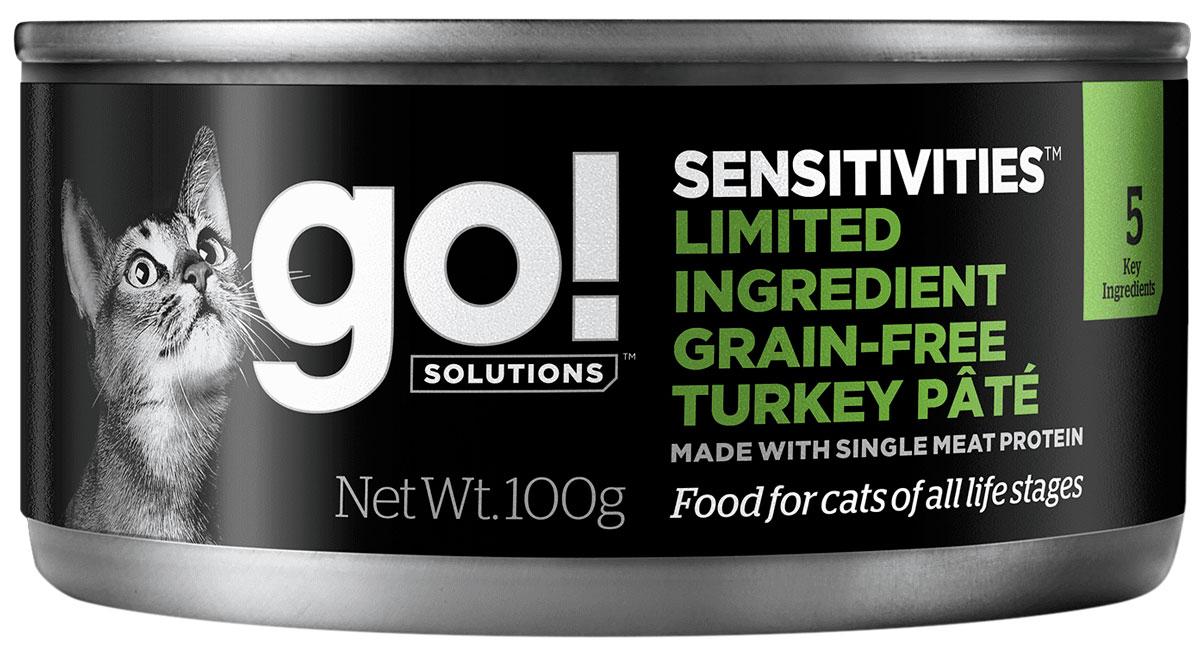 Go! Sensitivities Adult Cat Grain Free Turkey Pate беззерновые для взрослых кошек паштет с индейкой (100 гр)