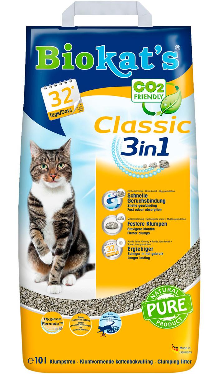 Фото - Biokat's Classic 3 in 1 наполнитель комкующийся для туалета кошек (18 л) комкующийся наполнитель