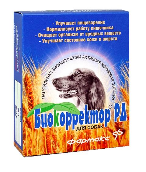 биокорректор рд кормовая добавка для собак для профилактики заболеваний желудочно-кишечного тракта, повышения иммунитета и при аллергии (90 таблеток)