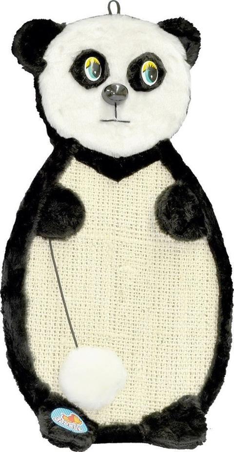 Когтеточка Панда подвесная Зооник сизаль/мех 53 х 29 х 3 см (1 шт)