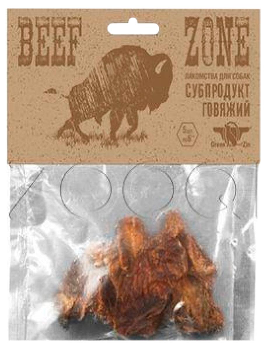 Лакомство Green Qzin Beef Zone для собак всех пород мясо говяжье сушеное слайсами 3 дюйма (1 шт)