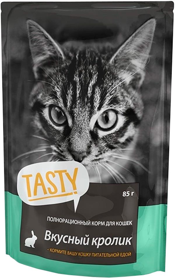 Tasty для кошек с кроликом в желе (85 гр)