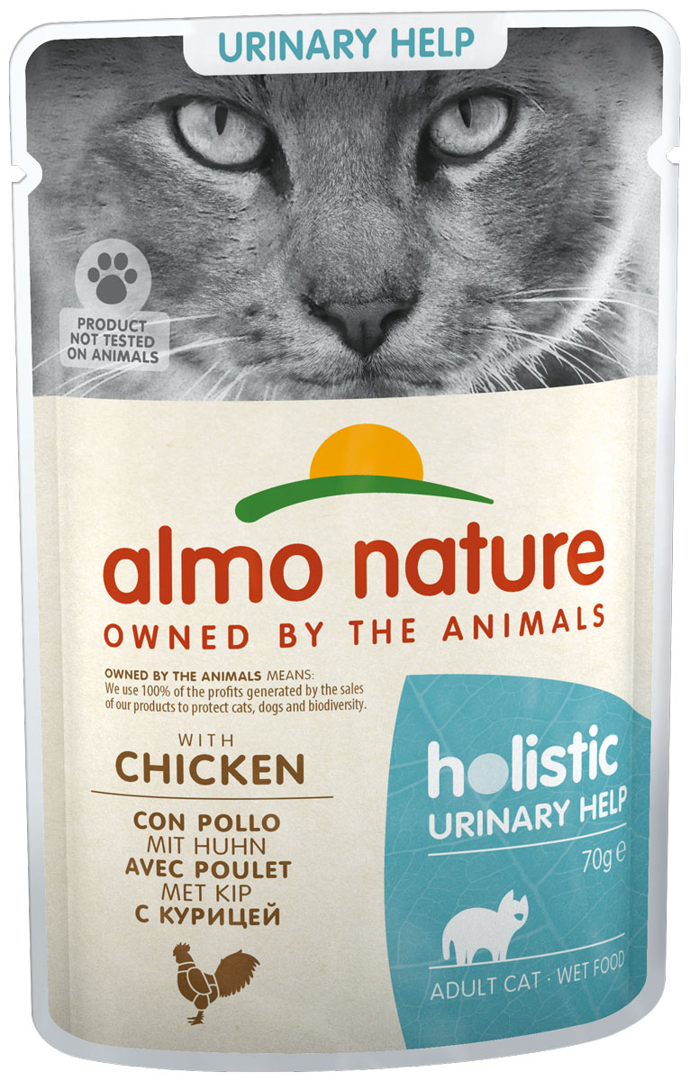 Almo Nature Cat Holistic Urinary Support для взрослых кошек при мочекаменной болезни с курицей 70 гр (70 гр)