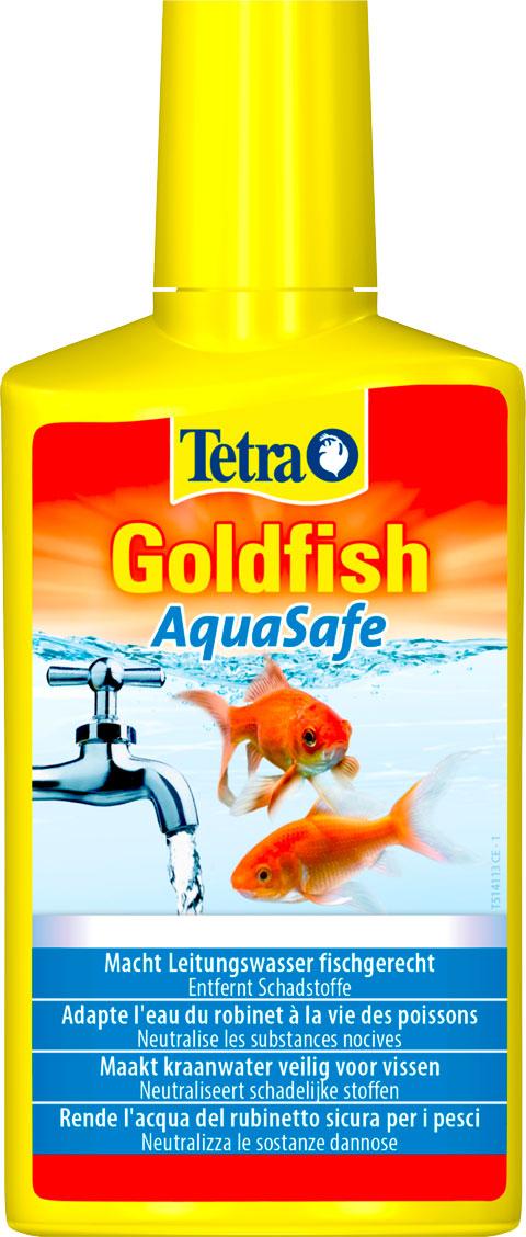 Фото - Tetra Aquasafe Goldfish – Тетра средство для подготовки водопроводной воды для золотых рыбок (250 мл) tetra torumin средство для подготовки водопроводной воды 250 мл