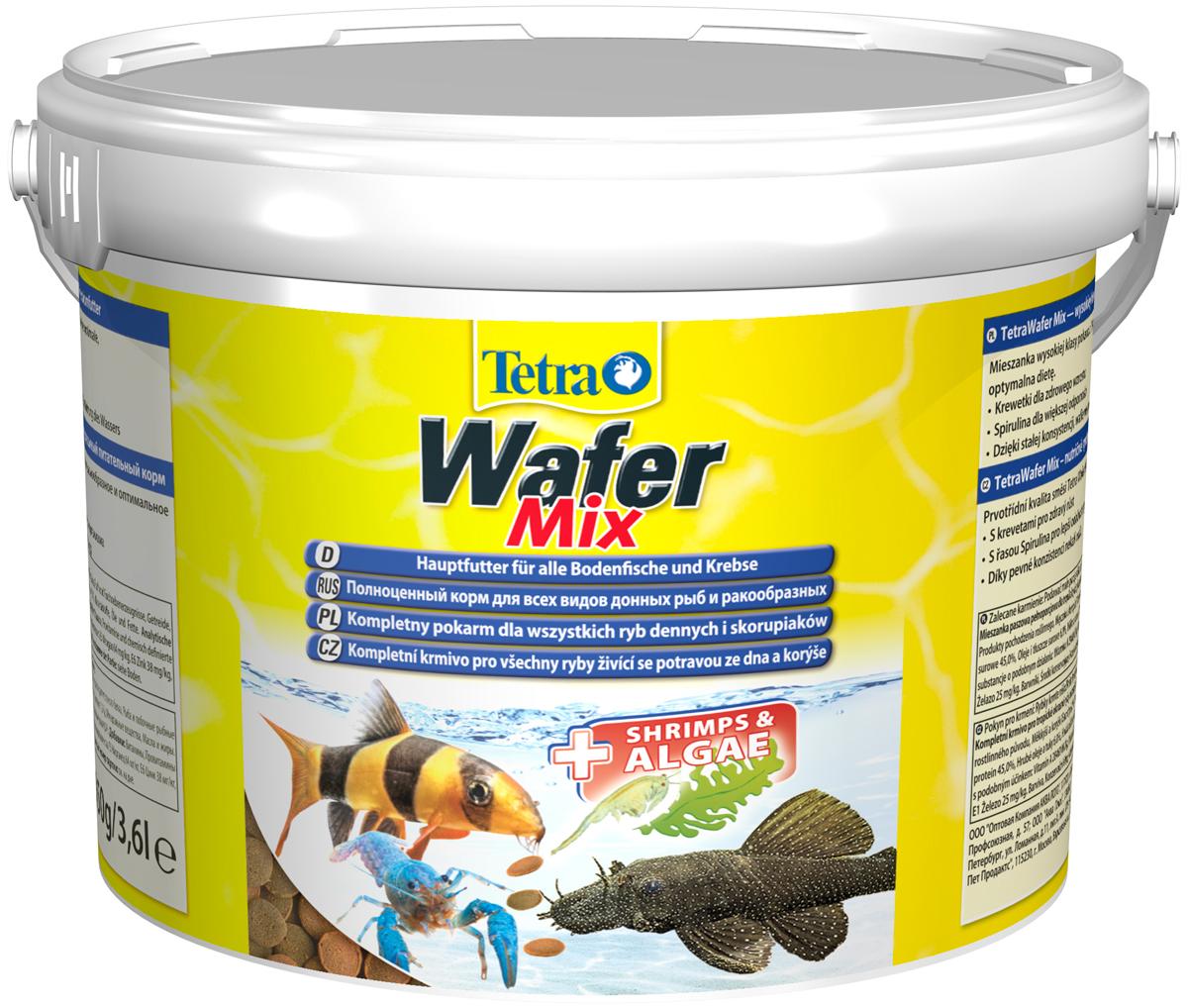 Tetra Wafer Mix — Тетра корм-чипсы для донных рыб и ракообразных (15 гр) фото