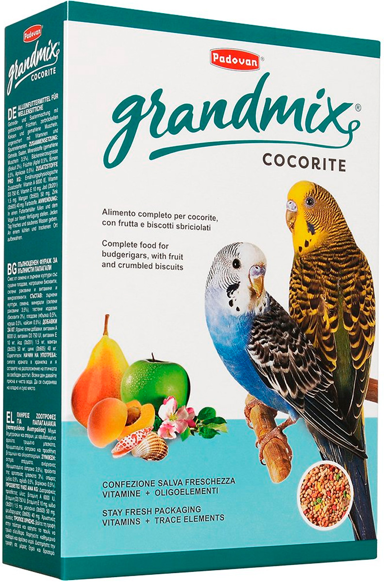 Padovan Grandmix Cocorite корм для волнистых попугаев (400 гр)