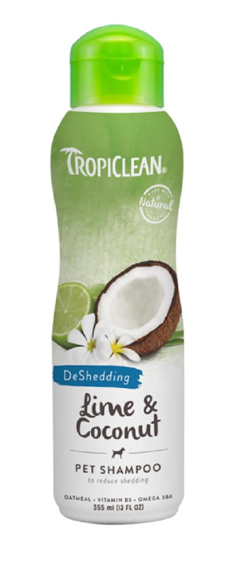 Tropiclean Shampoo Lime  Coconut – Тропиклин шампунь для собак и кошек в период линьки Лайм и кокос (355 мл).