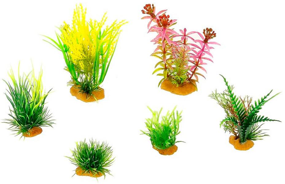 Набор пластиковых растений для аквариума Prime Pr-ys-70403 уп. 6 шт (1 уп) 0 pr на 100