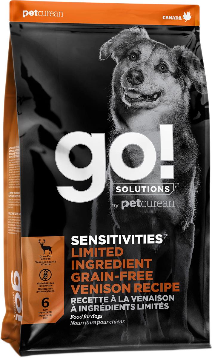 Go! Solutions Sensitivities беззерновой для собак и щенков всех пород с чувствительным пищеварением с олениной (9,98 кг) go solutions sensitivities беззерновой для собак и щенков всех пород с чувствительным пищеварением с ягненком 2 72 2 72 кг