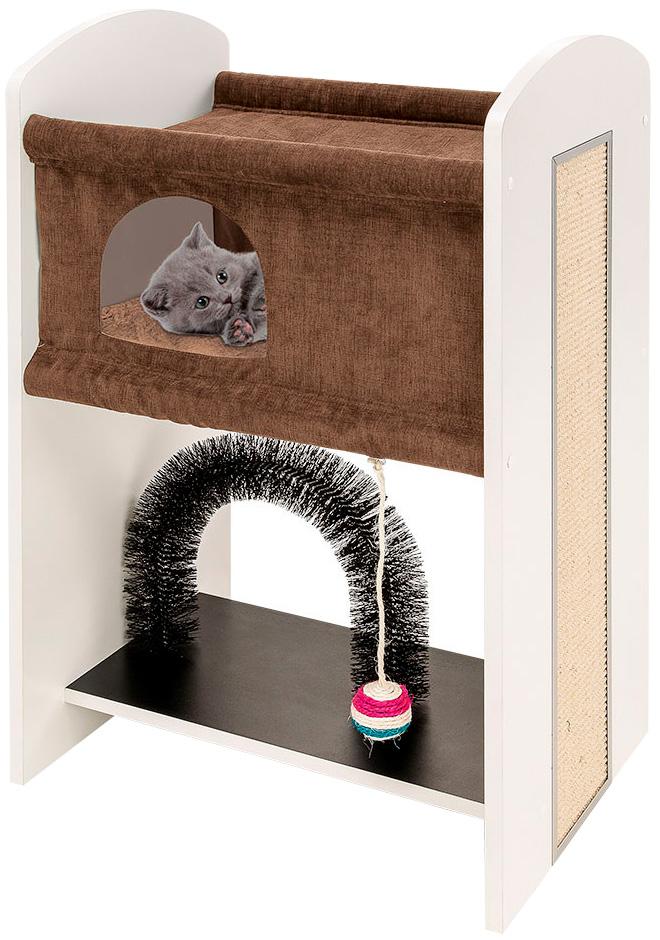 Комплекс для кошек Ferplast Leo спально-игровой 50 x 37 x 84 см (1 шт)