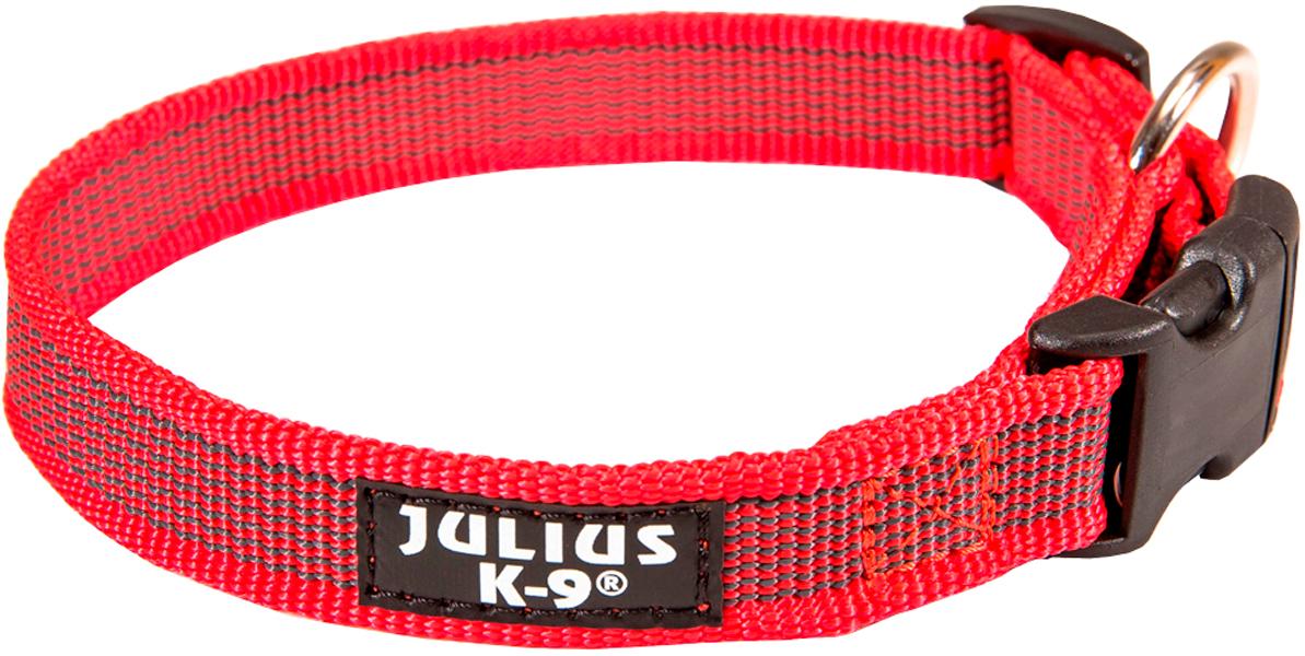 Ошейник для собак Julius-K9 Color & Gray красно-серый 25 мм 39 – 65 см (1 шт)