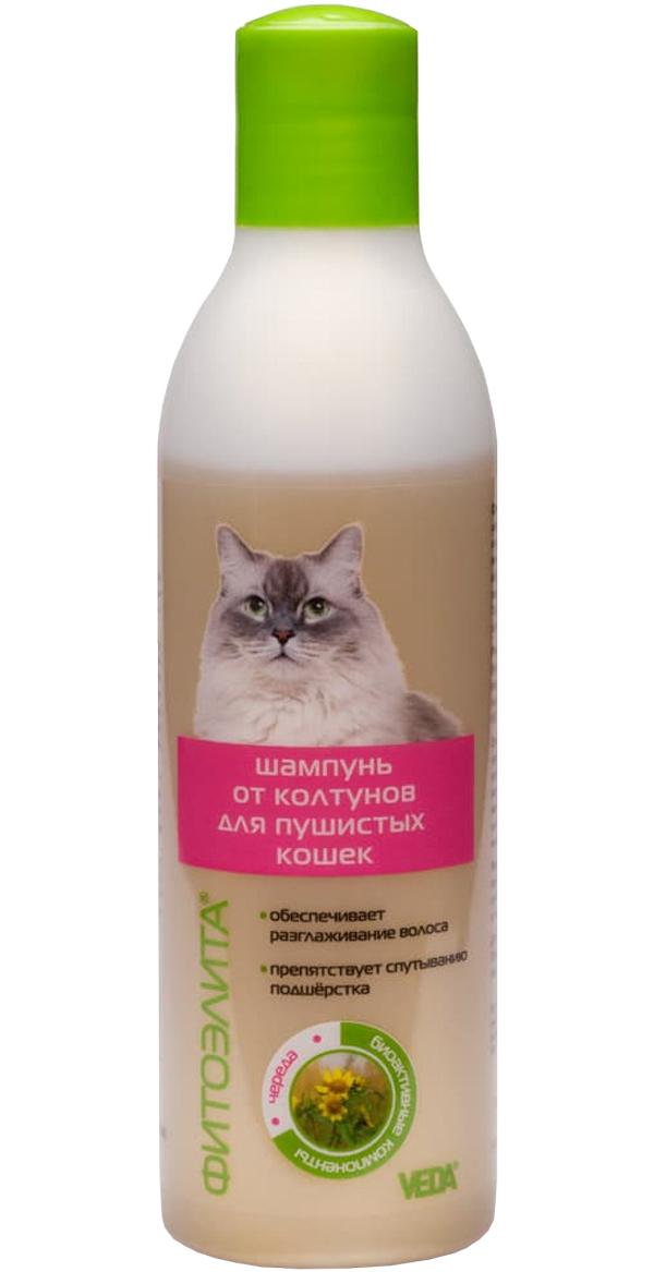 фитоэлита шампунь для пушистых кошек против колтунов Veda (220 мл).