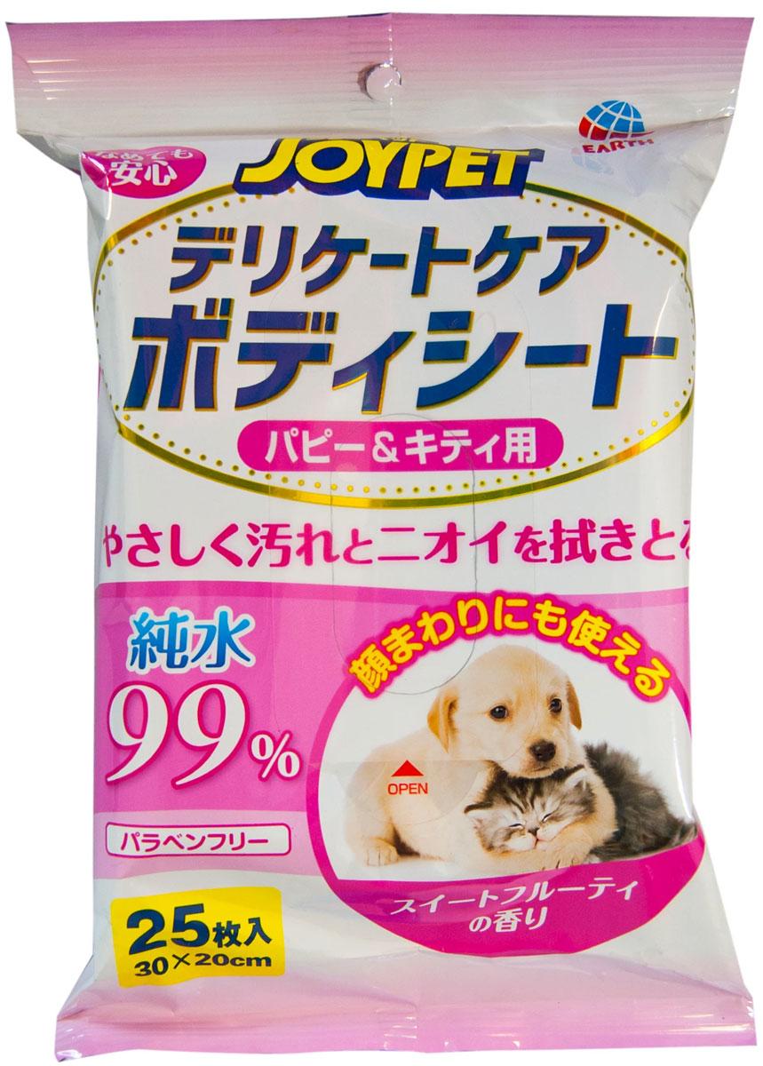Полотенца шампуневые Premium Pet Japan Деликатный уход для щенков и котят экспресс-купание без воды 25 шт (1 уп)