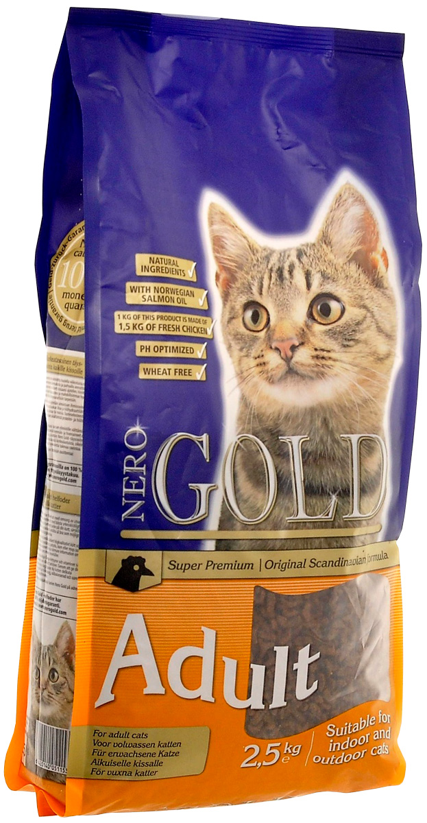 Nero Gold Cat Adult Chicken для взрослых кошек с курицей (2,5 кг)