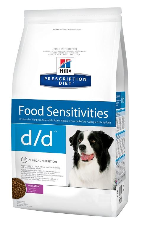 Hill's Prescription Diet D/d Duck & Rice для взрослых собак при пищевых аллергиях с уткой и рисом (2 кг)