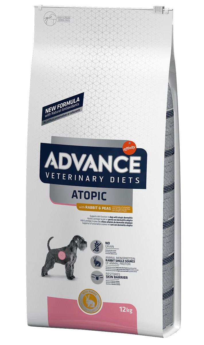 Advance Veterinary Diets Atopic для взрослых собак при дерматозах и аллергии с кроликом и горохом (12 кг)