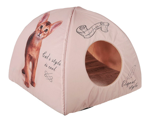 Дом для животных PerseiLine Дизайн вигвам Котенок винтаж 40 х 40 х 39 см (1 шт) дом для животных perseiline дизайн бамбук 33 х 33 х 40 см 1 шт