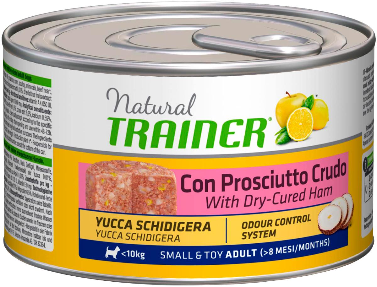 Trainer Natural Small & Toy Dry-cured Ham для взрослых собак маленьких пород с сыровяленой ветчиной 150 гр (150 гр) фото
