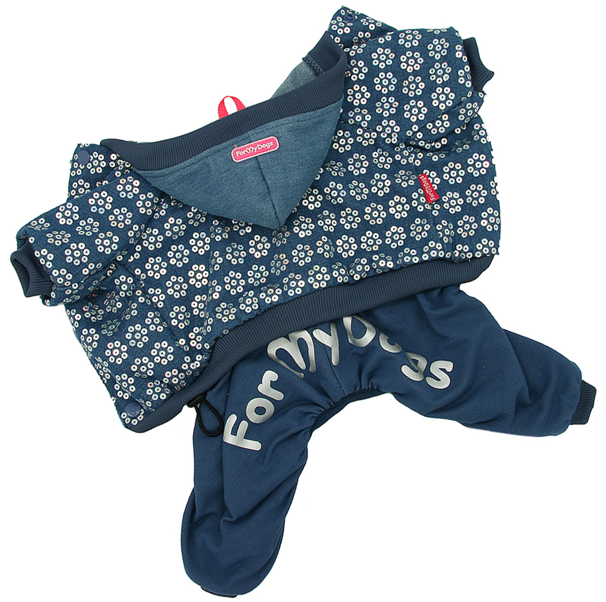 For My Dogs костюм для собак утепленный синий Fw910-2020 B (10Chh)