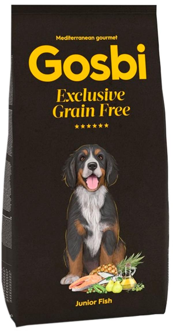 Gosbi Exclusive Grain Free Junior Fish беззерновой для щенков средних и крупных пород с рыбой (3 кг)