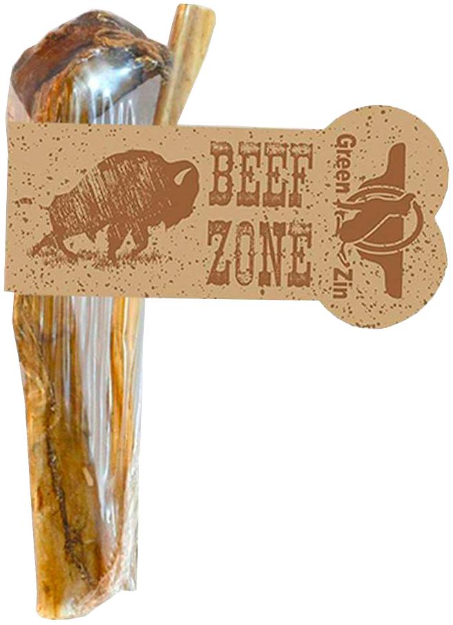 Лакомство Green Qzin Beef Zone для собак всех пород пенис бычий сушеный 6 дюймов (1 шт)