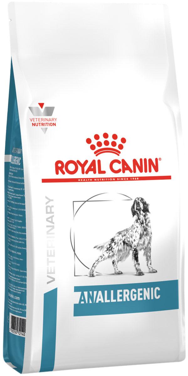 Royal Canin Anallergenic для взрослых собак при пищевой аллергии, непереносимости с ярко выраженной гиперчувствительностью (8 кг)