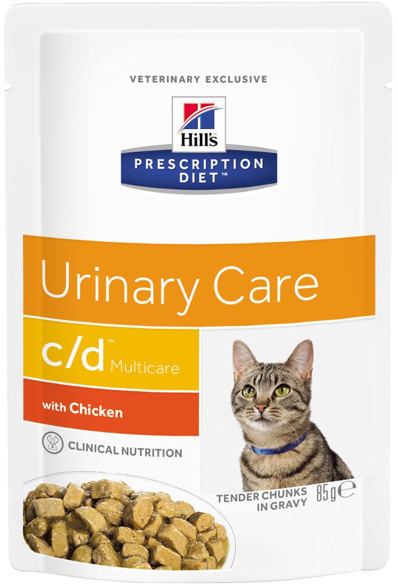 Hills Prescription Diet Multicare с/d Chicken для взрослых кошек при мочекаменной болезни с курицей в соусе 85 гр (85 гр)