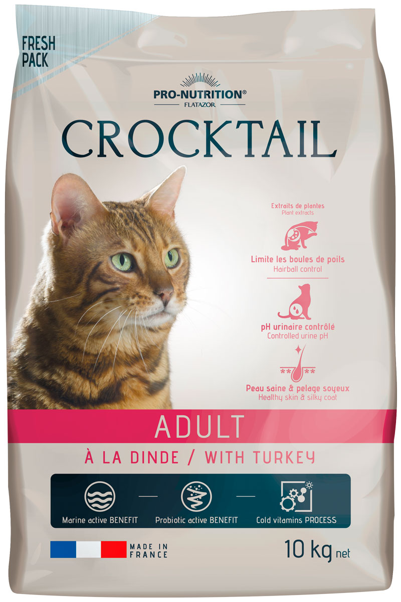 Flatazor Crocktail Adult Turkey для взрослых кошек с индейкой (10 кг)