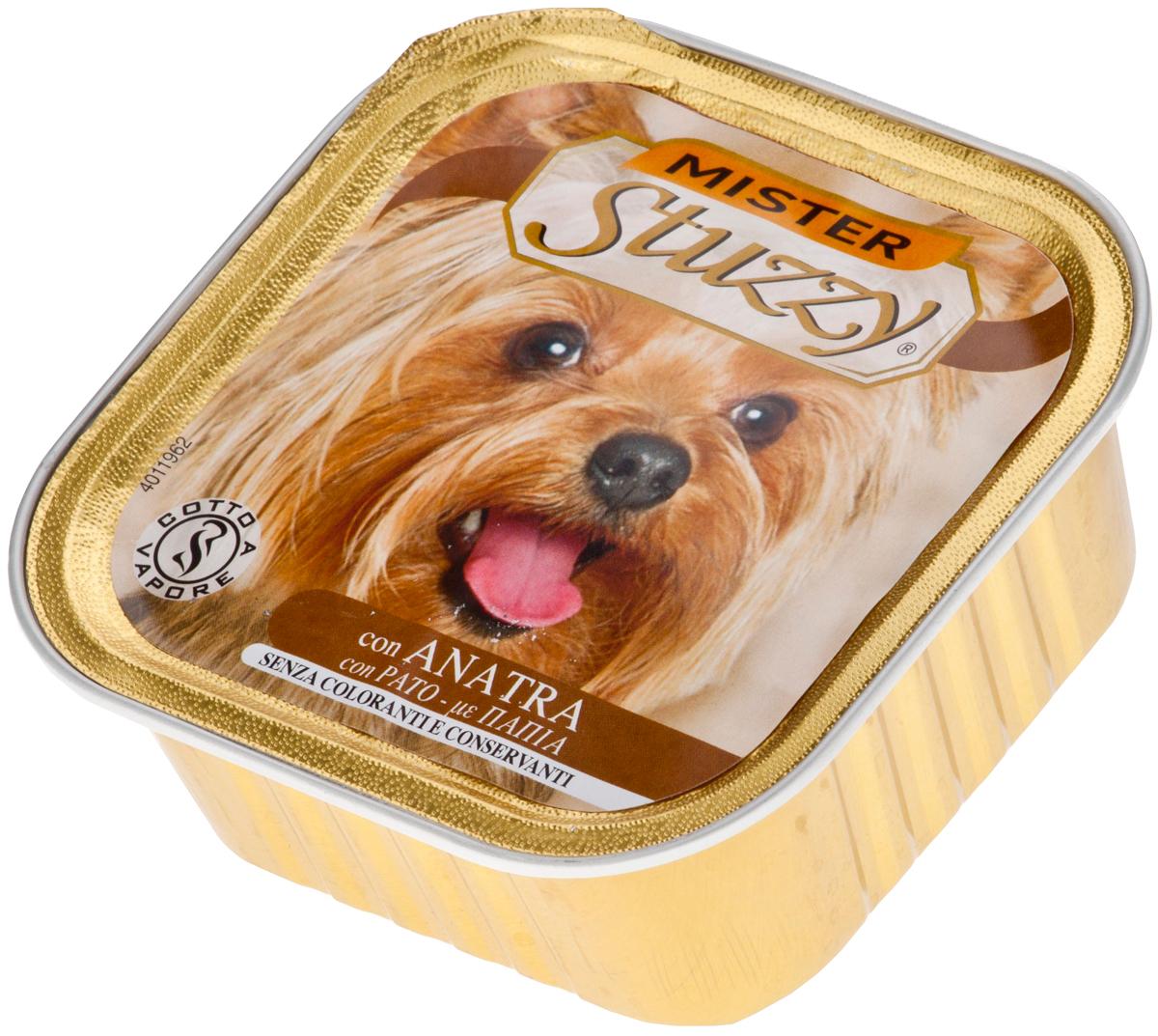 Mister Stuzzy Dog для взрослых собак паштет с уткой 150 гр (150 гр х 22 шт)