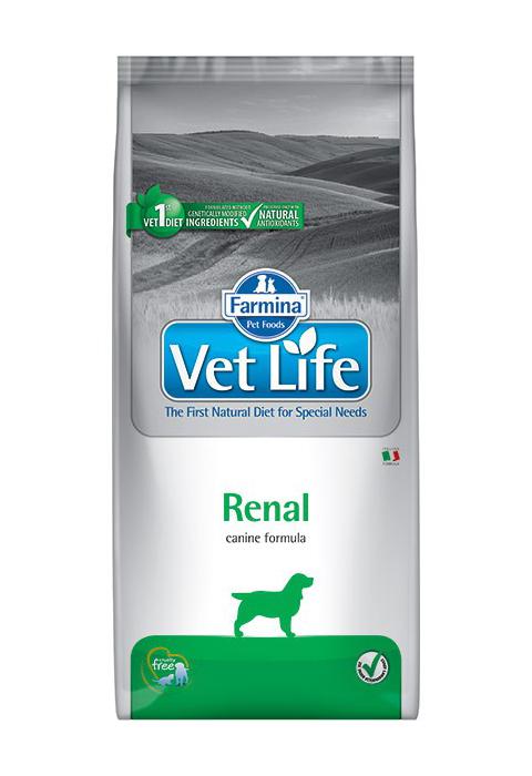 Farmina Vet Life Canin Renal для взрослых собак при почечной недостаточности (12 кг)