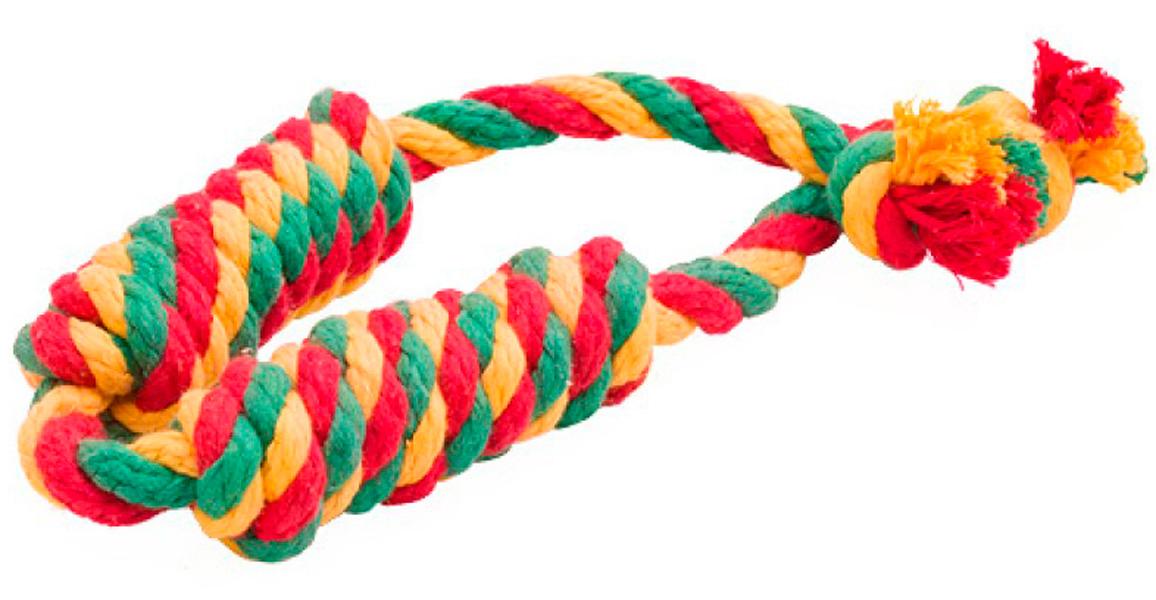 Игрушка для собак Doglike Dental Knot Сарделька канатная двойная цветная средняя (1 шт)
