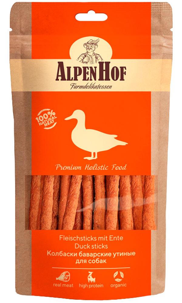 Лакомство AlpenHof для собак колбаски баварские с уткой 50 гр (1 уп)