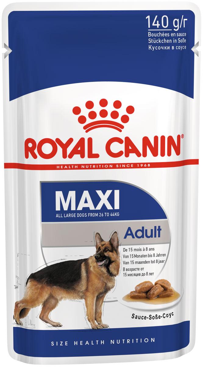 Royal Canin Maxi Adult для взрослых собак крупных пород в соусе  (8 + 2 шт)
