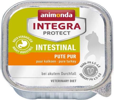 Animonda Integra Protect Cat Intestinal для взрослых кошек при заболеванияx желудочно-кишечного тракта с индейкой 100 гр (100 гр х 16 шт) royal canin gastro intestinal puppy для щенков при заболеваниях желудочно кишечного тракта 195 гр 195 гр