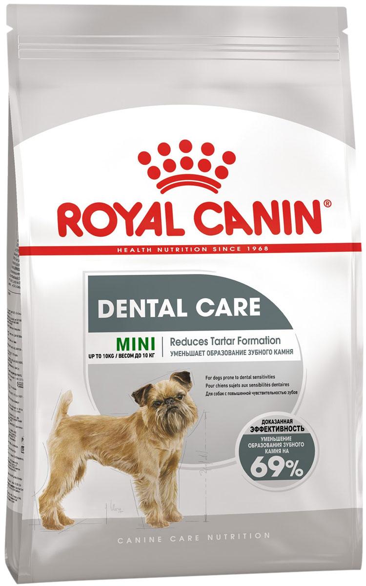Royal Canin Mini Dental Care для взрослых собак маленьких пород от заболеваний зубов и десен (1 кг)