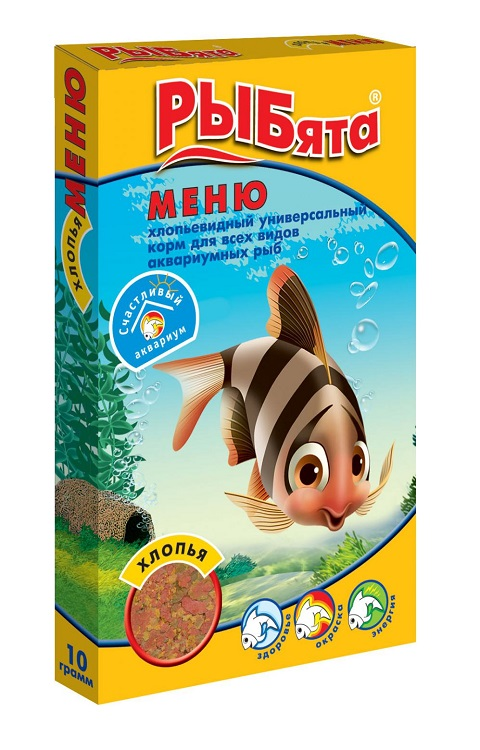 Корм-хлопья для всех видов рыб Зоомир РЫБята меню (10 гр)