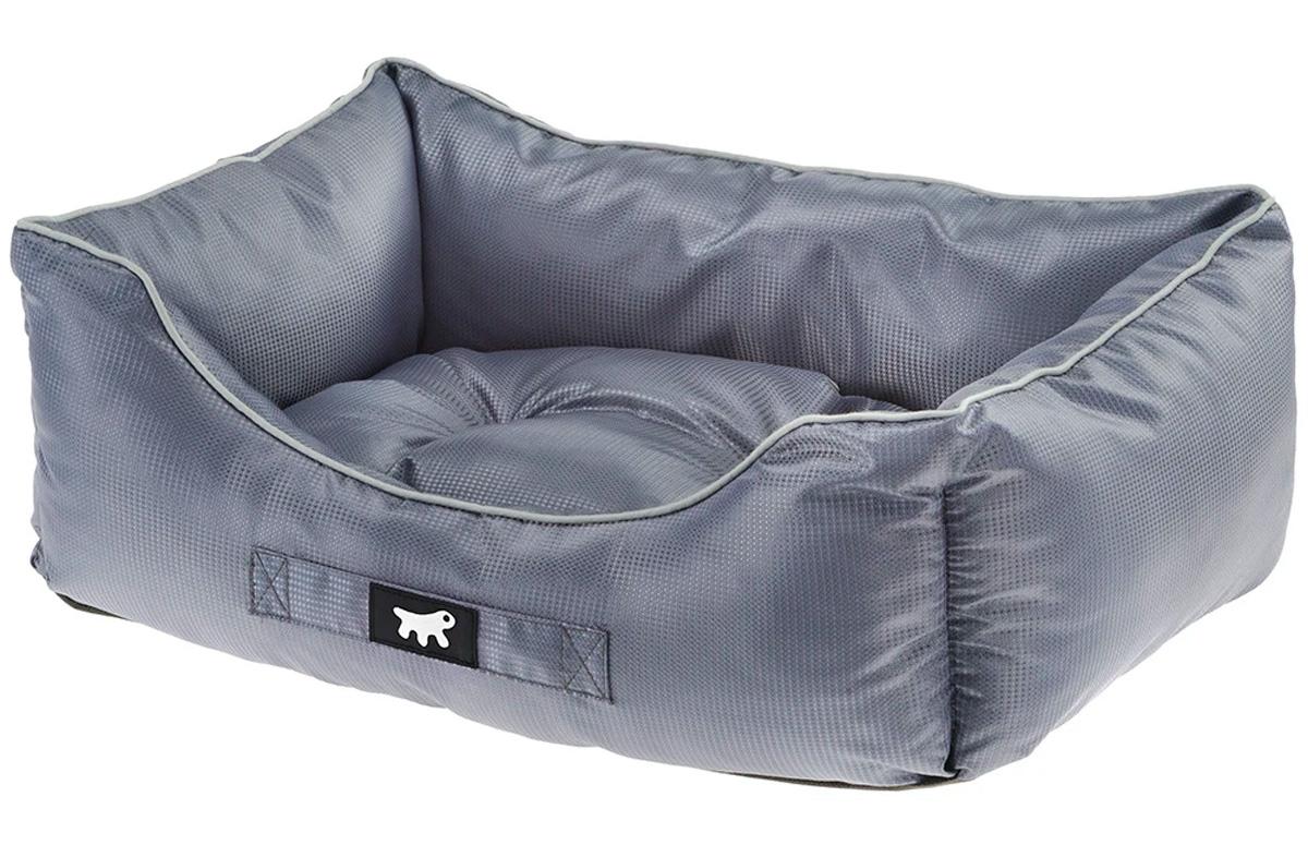 Софа для собак и кошек Ferplast Jazzy 80 водоотталкивающая ткань серая 78 х 56 х 22 см (1 шт)