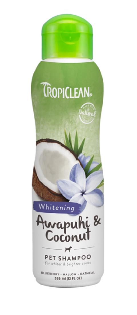 Tropiclean Shampoo Awapuhi & Coconut – Тропиклин шампунь для собак и кошек с белой шерстью (355 мл)