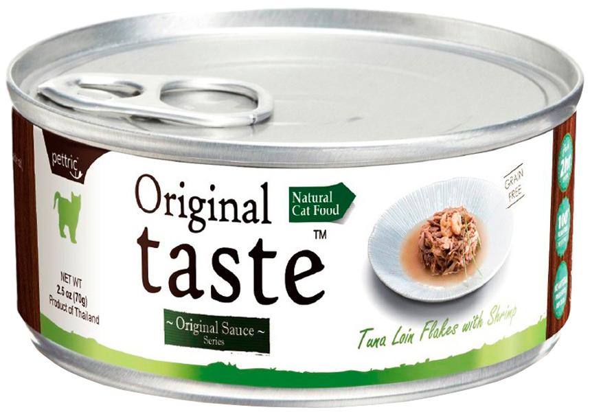 Pettric Original Taste Adult Cat Grain Free Tuna & Shrimp беззерновые для взрослых кошек с тунцом и креветками в соусе 70 гр (70 гр)