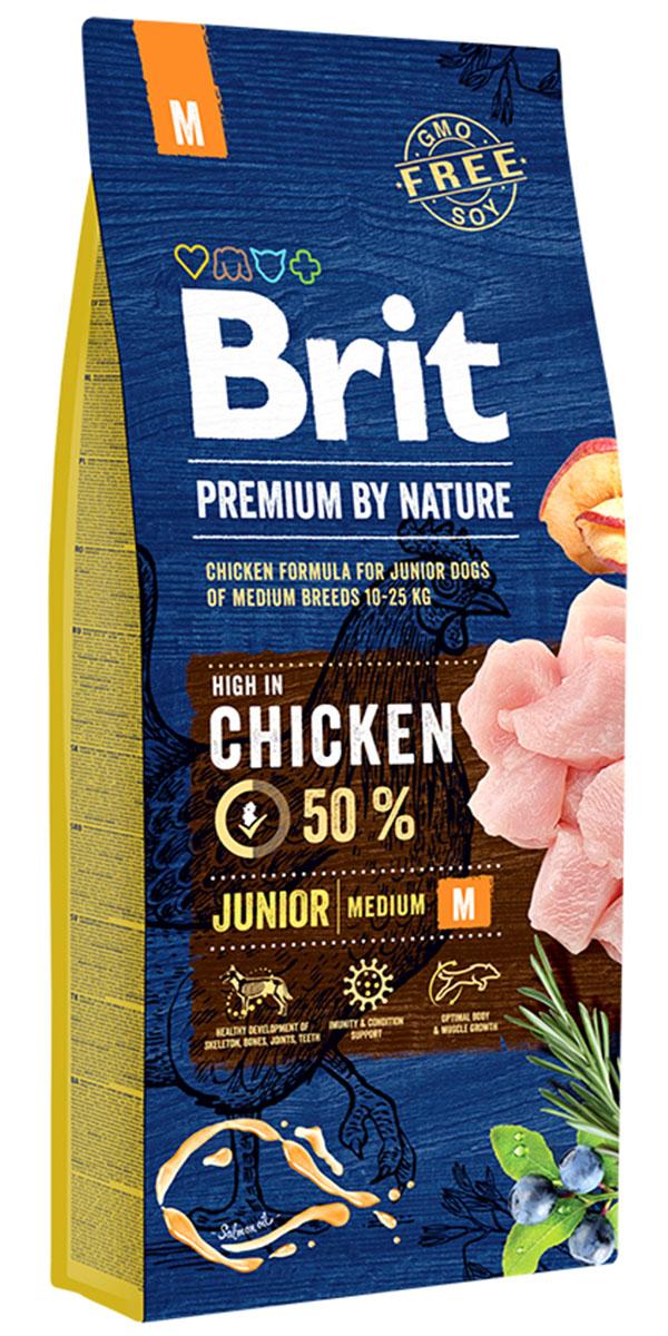 Brit Premium By Nature Junior M для щенков средних пород (3 + 3 кг)