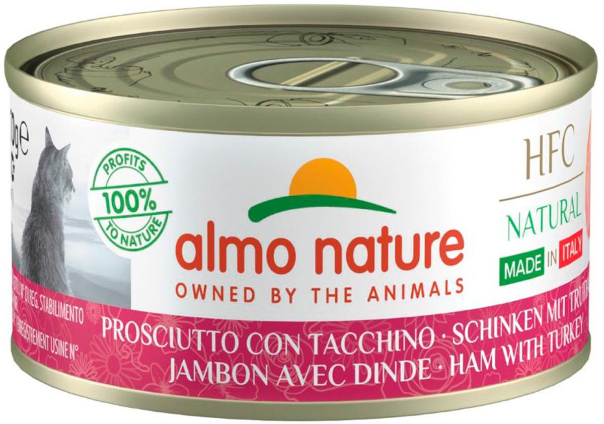 Almo Nature Cat итальянские рецепты беззерновые для взрослых кошек с ветчиной и индейкой (70 гр)