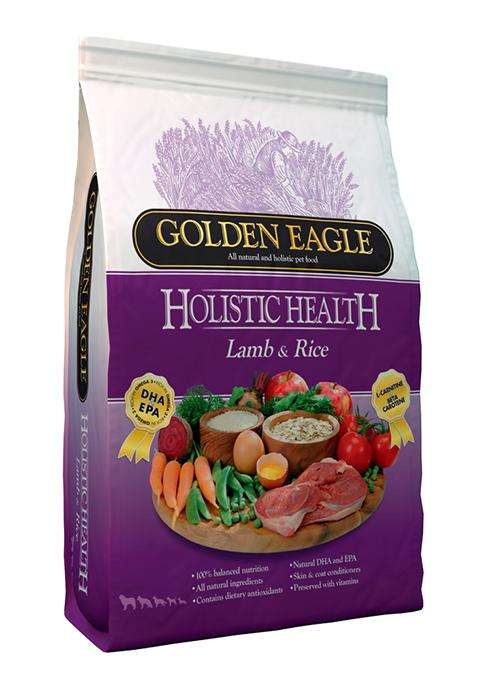 Golden Eagle Holistic Health Dog Adult Lamb & Rice для взрослых собак всех пород с ягненком и рисом (2 + 2 кг)