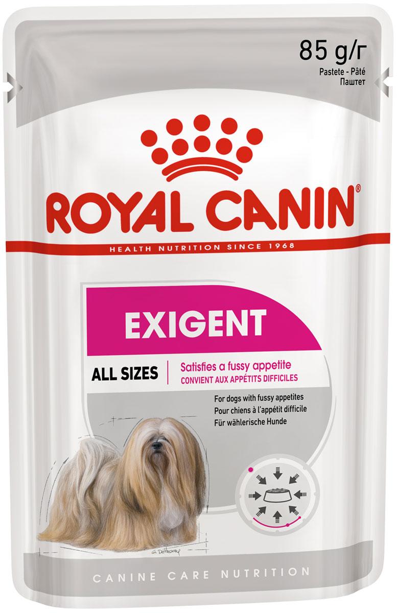 Royal Canin Exigent Care для привередливых взрослых собак всех пород паштет 85 гр (85 гр х 12 шт)