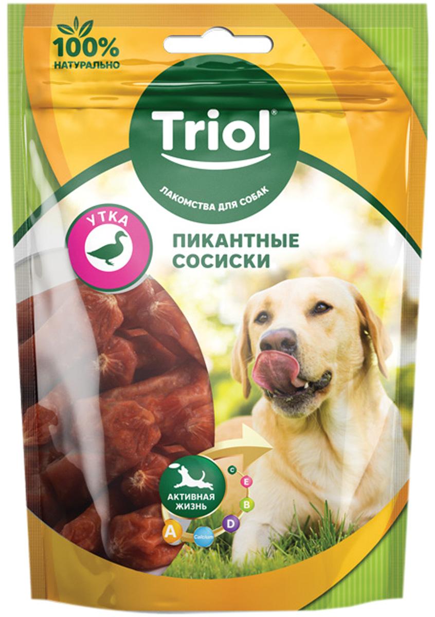 Лакомство Triol для собак сосиски пикантные с уткой 70 гр (1 шт)