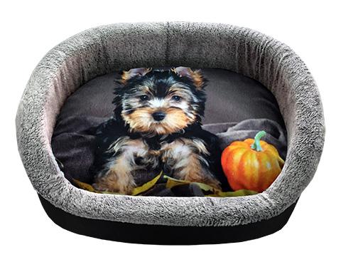 Лежак для собак PerseiLine Дизайн № 3 принт 31 овальный 49 х 33 х 16 см (1 шт)