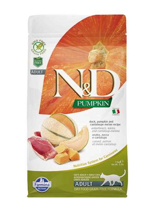Farmina Cat N&d Grain Free Pumpkin Duck беззерновой для взрослых кошек с уткой, тыквой и дыней (5 кг)