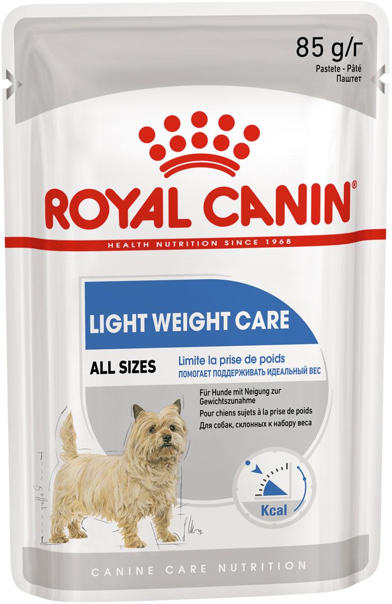 Royal Canin Light Weight Care диетический для взрослых собак всех пород паштет 85 гр (85 гр х 12 шт) фото